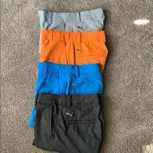 Boys puma golf shorts bundle of 4 pairs